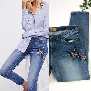 Driftwood Embroidered Beau Boyfriend Jeans